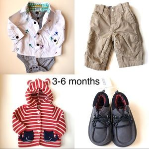 Boys 3-6mo Mix'n'Match 4 Piece Collection